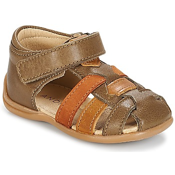 Shoes Boy Sandals André LES PRALINES Brown