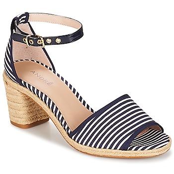 Shoes Women Sandals André JAKARTA Striped / Blue