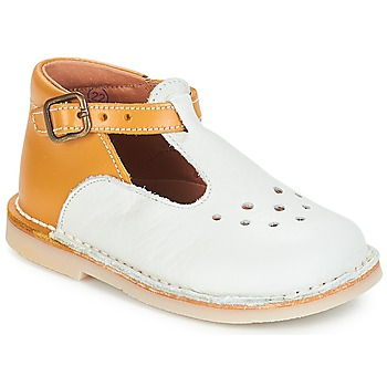 Shoes Girl Ballerinas André FALAISE Ecru