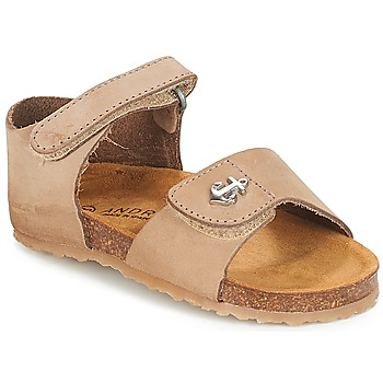 Shoes Boy Sandals André MATELOT Beige