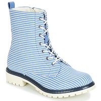 Shoes Women Mid boots André PRUNE Striped / Blue