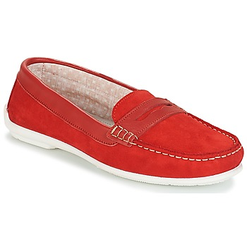Shoes Women Loafers André FRIOULA Red