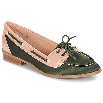 Shoes Women Loafers André NONETTE Kaki