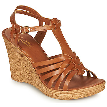 Shoes Women Sandals André FABULEUSE Camel