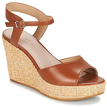 Shoes Women Sandals André BUNGALOW Cognac