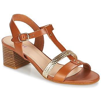 Shoes Women Sandals André ANTIGUA Camel