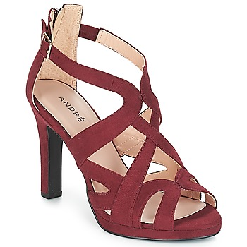 Shoes Women Sandals André CHARLESTON Bordeaux