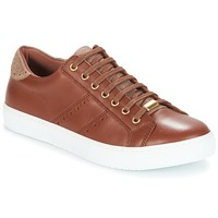 Shoes Women Low top trainers André BERKELEY Cognac