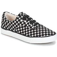 Shoes Women Low top trainers André FUSION Polka dot / Black