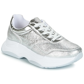 Shoes Women Low top trainers André DRACO Silver