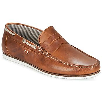 Shoes Men Boat shoes André FREGATE Brown