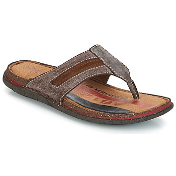 Shoes Men Flip flops André MATEO Brown
