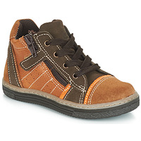 Shoes Boy High top trainers Citrouille et Compagnie JESSICA Camel