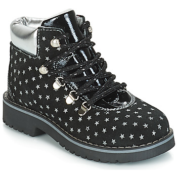 Shoes Girl Mid boots Citrouille et Compagnie JORDA Black / Silver