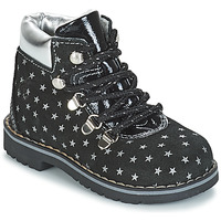Shoes Girl Mid boots Citrouille et Compagnie JORDA Black / Silver