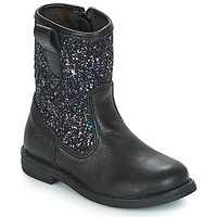 Shoes Girl Boots Citrouille et Compagnie JUCKER Black / Glitter