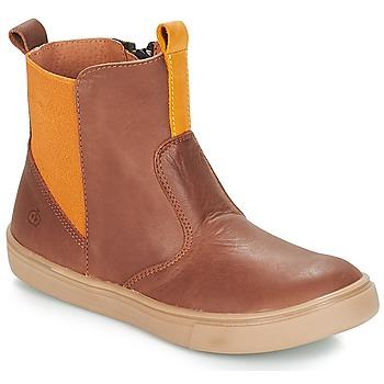 Shoes Boy Mid boots Citrouille et Compagnie JRYNE Camel / Yellow