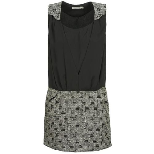 material Women Short Dresses See U Soon CASSIDY Black