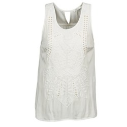 material Women Tops / Sleeveless T-shirts See U Soon CHELSEA White / Grey
