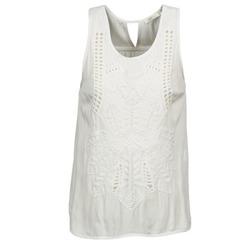 material Women Tops / Sleeveless T-shirts See U Soon CHELSEA White / Grey