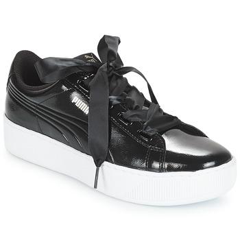 Shoes Women Low top trainers Puma VIKKYPFP RIB182 Black