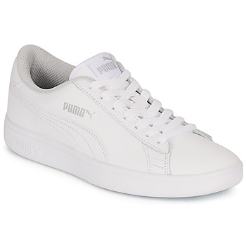 Shoes Children Low top trainers Puma SMASH V2 L JR White