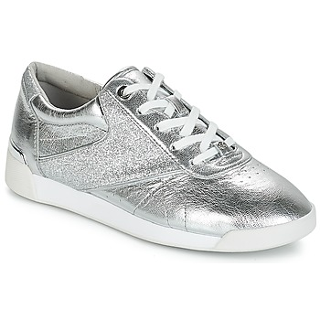Shoes Women Low top trainers MICHAEL Michael Kors ADDIE LACE UP Silver
