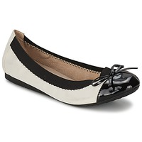 Shoes Women Ballerinas Moony Mood VADOUMI White / Black