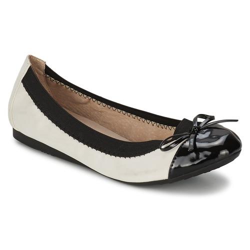Shoes Women Ballerinas Moony Mood ELALA White / Black