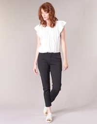 material Women Cargo trousers  Maison Scotch ZERATRE Black / White