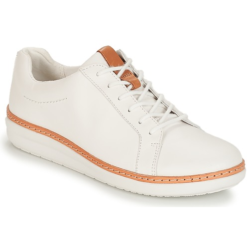 Crónica Dando Cordelia  Clarks Amberlee Rosa White White - Fast delivery | Spartoo Europe ! - Shoes  Derby shoes Women 96,00 €