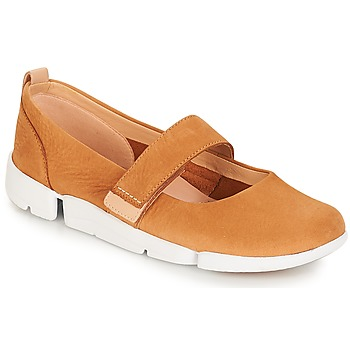 Shoes Women Ballerinas Clarks Tri Carrie Tan / Nubuck
