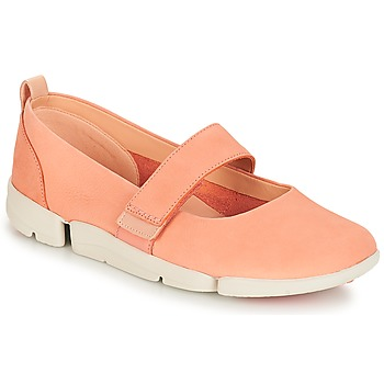 Shoes Women Ballerinas Clarks Tri Carrie Pink / Nubuck