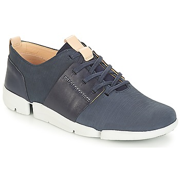 Shoes Women Low top trainers Clarks Tri Caitlin Navy / Combi