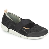 Shoes Women Ballerinas Clarks Tri Allie  black / Combi