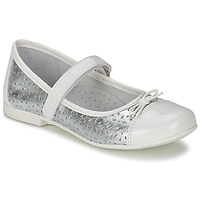 Shoes Girl Ballerinas Citrouille et Compagnie JILENA Silver / White