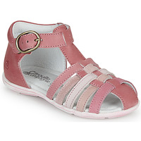 Shoes Girl Sandals Citrouille et Compagnie VISOTU Pink / Multicolour