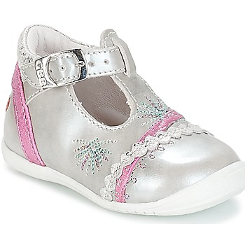 Shoes Girl Ballerinas GBB MARINA Vte / Silver / Kezia