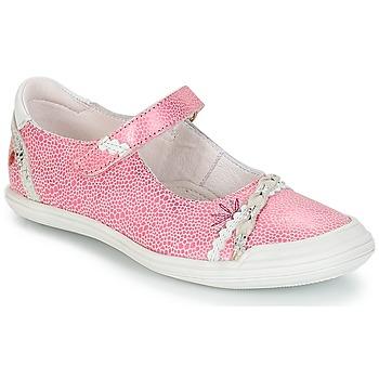 Shoes Girl Ballerinas GBB MARION Vte / Pink-white