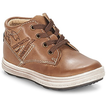 Shoes Boy High top trainers GBB NINO Vte / Brown / Gomez