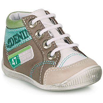 Shoes Boy Mid boots GBB PANCRACE White / Green / Taupe