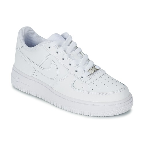 sale retailer 8ba54 3b709 Shoes Children Low top trainers Nike AIR FORCE 1 White