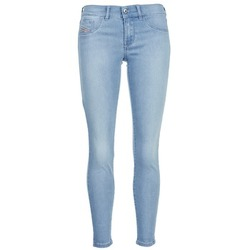 material Women slim jeans Diesel LIVIER ANKLE Blue / Clear