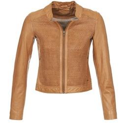 material Women Leather jackets / Imitation leather Ikks SANTA ANA COGNAC
