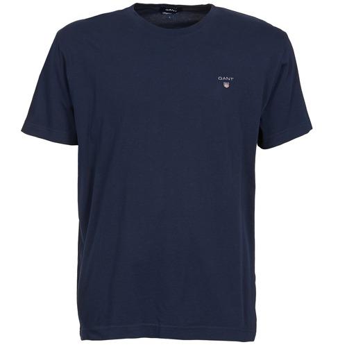 material Men short-sleeved t-shirts Gant SOLID Marine