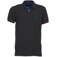 material Men short-sleeved polo shirts Gant CONTRAST COLLAR PIQUE SS RUGGER Black