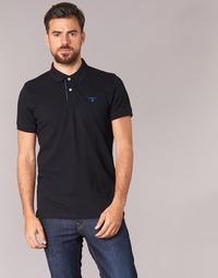 material Men short-sleeved polo shirts Gant CONTRAST COLLAR PIQUE SS RUGGER Black