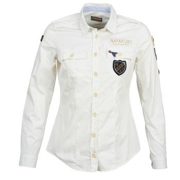 material Women Shirts Napapijri GLENDA White