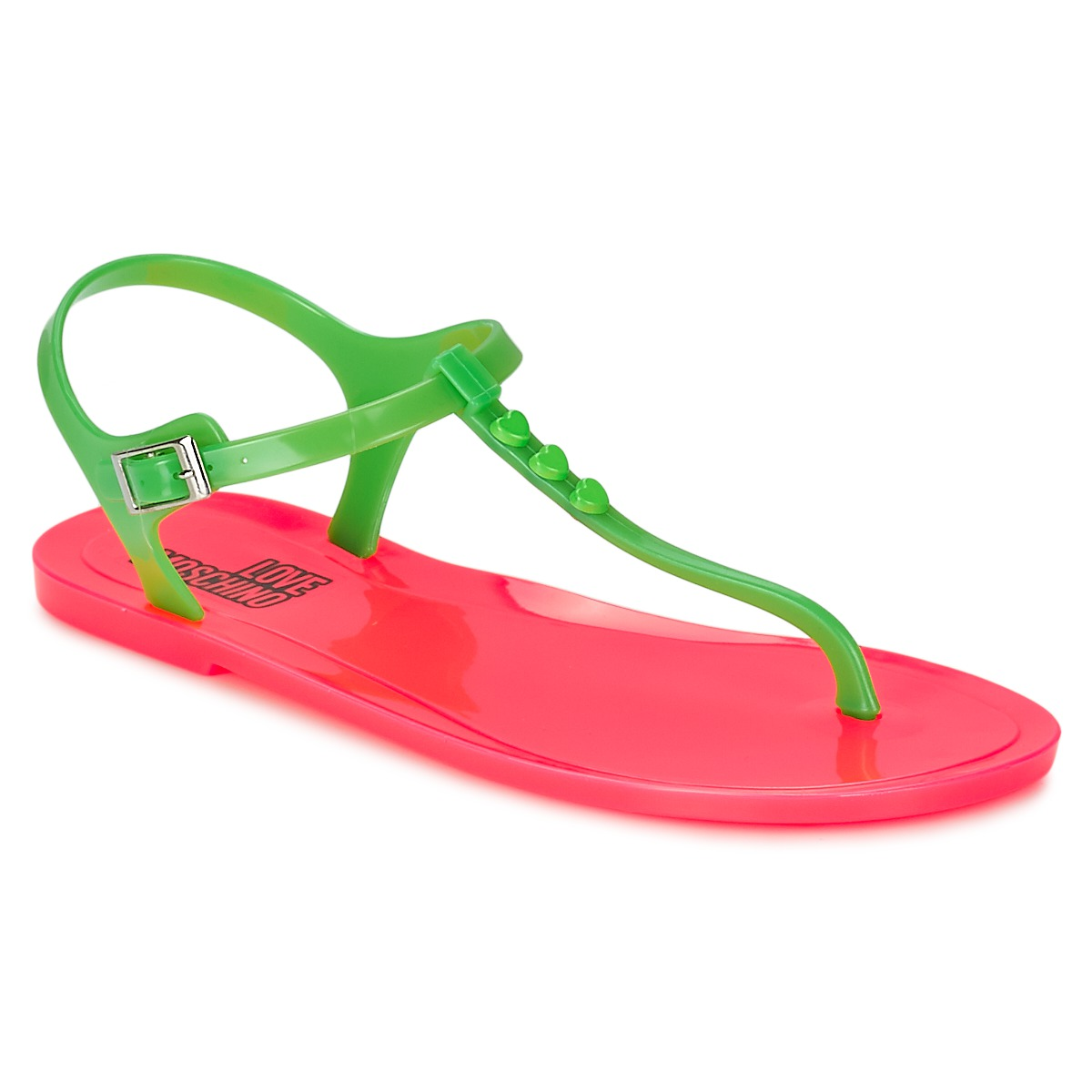 Sandals Love Moschino JA16381G0KJN180A Green / Pink