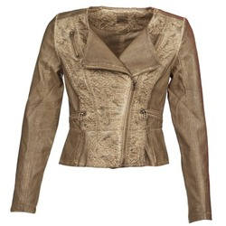 material Women Leather jackets / Imitation leather Cream LIL TAUPE